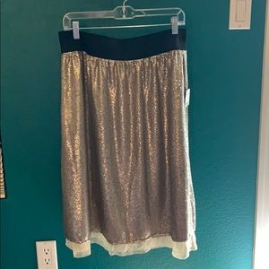 Gold Sequin midi skirt from free people